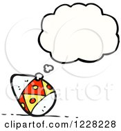 Clipart Of A Thinking Easter Egg Royalty Free Vector Illustration by lineartestpilot