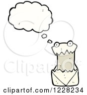 Clipart Of A Thinking Bill Royalty Free Vector Illustration