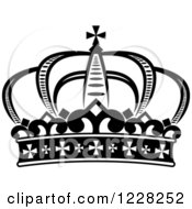 Clipart Of A Black And White Crown 20 Royalty Free Vector Illustration