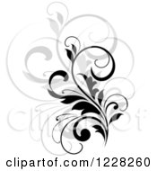 Clipart Of A Black Flourish With A Shadow 4 Royalty Free Vector Illustration