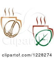 Clipart Of Tea And Coffee Cups Royalty Free Vector Illustration