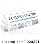 Clipart Of A Business Newspaper Royalty Free Vector Illustration