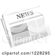 Clipart Of A Newspaper Royalty Free Vector Illustration