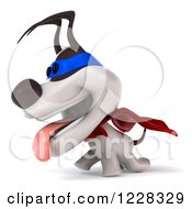 Clipart Of A 3d Super Jack Russell Terrier Dog Walking Royalty Free Illustration