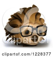Clipart Of A 3d Happy Bespectacled Hedgehog Royalty Free Illustration by Julos