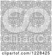 Clipart Of A Grayscale Seamless Intricate Middle Eastern Motif Background Pattern Royalty Free Vector Illustration