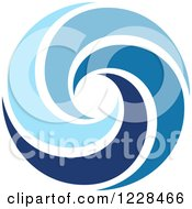 Clipart Of A Blue Spiral Royalty Free Vector Illustration