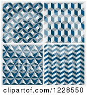 Seamless Blue And Gray Geometric Background Patterns