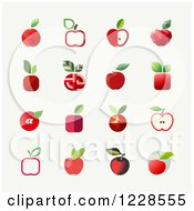 Clipart Of Red Apple Icons Royalty Free Vector Illustration by elena