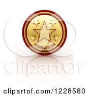 Clipart Of A 3d Five Star Excellence Seal And Reflection Royalty Free Illustration