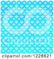 Clipart Of A Seamless Bright Gradient Blue Damask Background Royalty Free Illustration