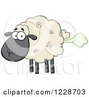 Flatulent Black And Tan Sheep Farting