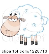 Clipart Of An Annoyed Sheep Royalty Free Vector Illustration