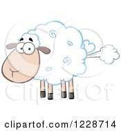 Clipart Of A Flatulent Sheep Farting Royalty Free Vector Illustration by Hit Toon
