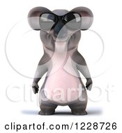Clipart Of A 3d Koala Mascot Wearing Sunglasses Royalty Free Illustration