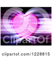 Happy Valentines Day Greeting With Lights