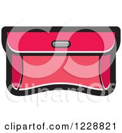 Clipart Of A Pink Purse Clutch Icon Royalty Free Vector Illustration