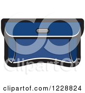 Clipart Of A Dark Blue Purse Clutch Icon Royalty Free Vector Illustration