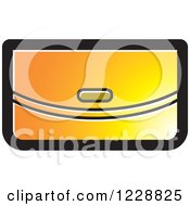 Clipart Of A Yellow And Orange Clutch Purse Icon Royalty Free Vector Illustration