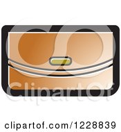 Clipart Of A Brown Clutch Purse Icon Royalty Free Vector Illustration