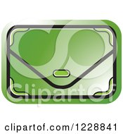 Clipart Of A Green Clutch Hand Bag Purse Icon Royalty Free Vector Illustration by Lal Perera