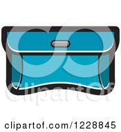 Clipart Of A Turquoise Purse Clutch Icon Royalty Free Vector Illustration by Lal Perera