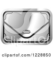 Clipart Of A Silver Clutch Hand Bag Purse Icon Royalty Free Vector Illustration by Lal Perera