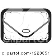 Clipart Of A Black And White Clutch Hand Bag Purse Icon Royalty Free Vector Illustration by Lal Perera