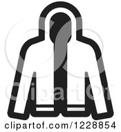 Clipart Of A Black And White Jacket Icon Royalty Free Vector Illustration