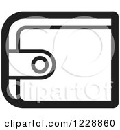 Clipart Of A Black And White Wallet Icon Royalty Free Vector Illustration by Lal Perera