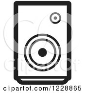 Clipart Of A Black And White Music Speaker Icon Royalty Free Vector Illustration by Lal Perera