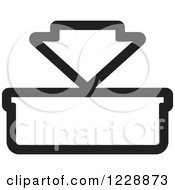 Clipart Of A Black And White In Or Download Icon Royalty Free Vector Illustration