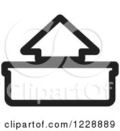 Clipart Of A Black And White Out Or Upload Arrow Icon Royalty Free Vector Illustration