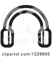 Clipart Of A Black And White Headphones Icon Royalty Free Vector Illustration by Lal Perera