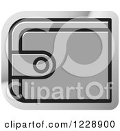 Clipart Of A Silver Wallet Icon Royalty Free Vector Illustration by Lal Perera