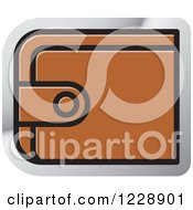Clipart Of A Brown Wallet Icon Royalty Free Vector Illustration by Lal Perera