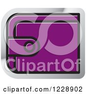 Clipart Of A Purple Wallet Icon Royalty Free Vector Illustration by Lal Perera