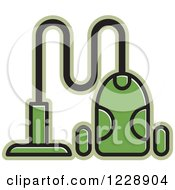 Clipart Of A Green Canister Vacuum Icon Royalty Free Vector Illustration by Lal Perera