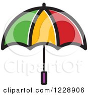 Clipart Of A Colorful Umbrella Icon Royalty Free Vector Illustration by Lal Perera