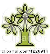 Clipart Of A Green Tree Icon Royalty Free Vector Illustration by Lal Perera