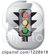 Clipart Of A Traffic Light Icon Royalty Free Vector Illustration by Lal Perera