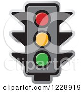 Clipart Of A Traffic Stop Light Icon Royalty Free Vector Illustration by Lal Perera