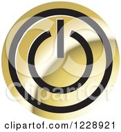 Clipart Of A Gold Power Button Icon Royalty Free Vector Illustration