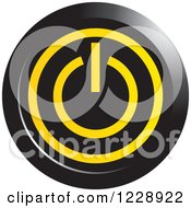 Clipart Of A Black And Yellow Power Button Icon Royalty Free Vector Illustration