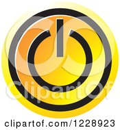 Clipart Of A Yellow And Orange Power Button Icon Royalty Free Vector Illustration
