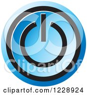 Clipart Of A Blue Power Button Icon Royalty Free Vector Illustration