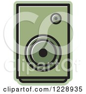 Clipart Of A Green Music Speaker Icon Royalty Free Vector Illustration by Lal Perera