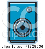 Clipart Of A Blue Music Speaker Icon Royalty Free Vector Illustration by Lal Perera