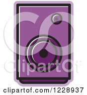Clipart Of A Purple Music Speaker Icon Royalty Free Vector Illustration by Lal Perera