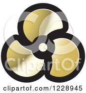 Clipart Of A Gold Propeller Or Fan Icon Royalty Free Vector Illustration